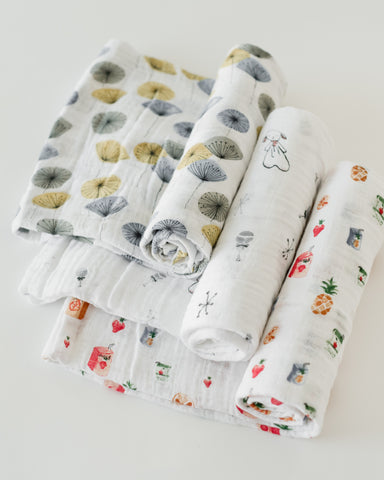 LU + The Boss Baby Cotton Swaddle Set - Lamby