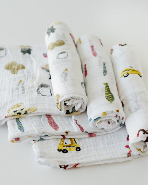 LU + The Boss Baby Cotton Swaddle Set - Cookies are for Closers