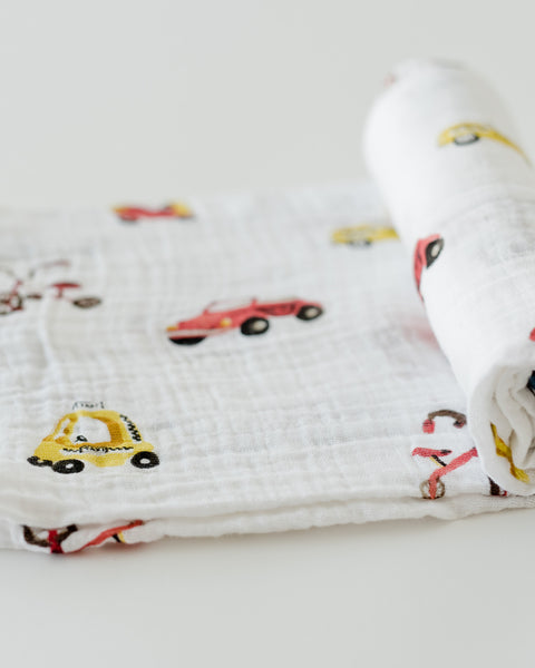 LU + The Boss Baby Cotton Swaddle - Transportation