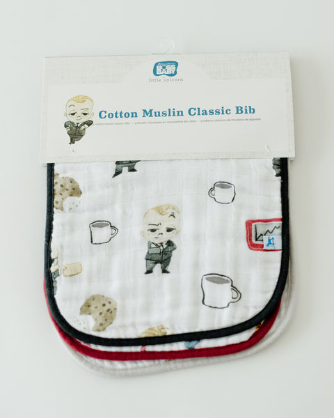 LU + The Boss Baby Cotton Classic Bib - Cookies are for Closers