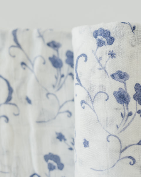 Deluxe Swaddle -  Blue Porcelain