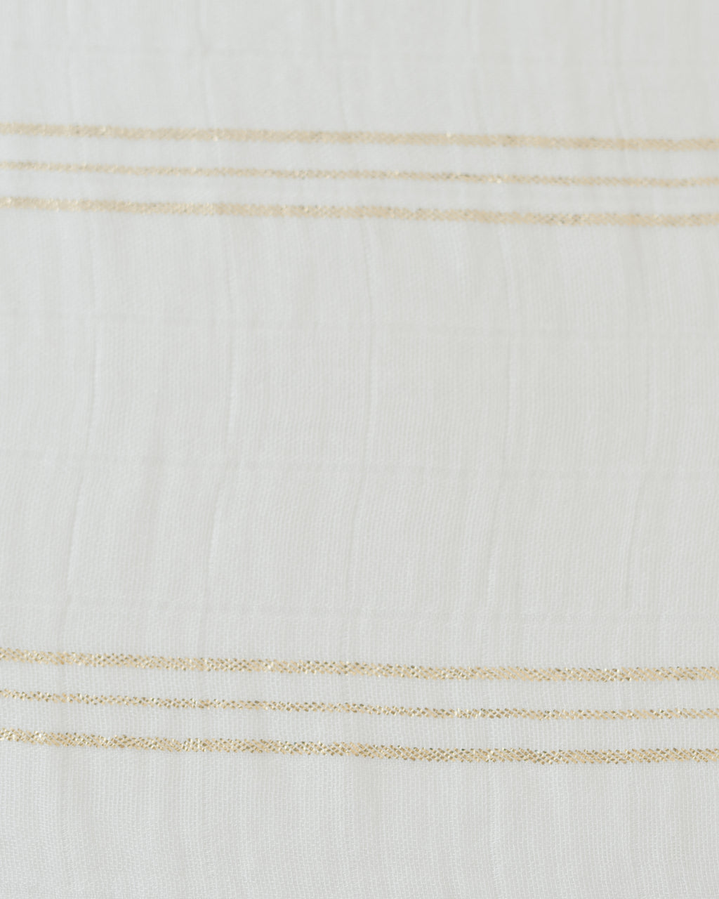 Deluxe Swaddle - Gold Stripe