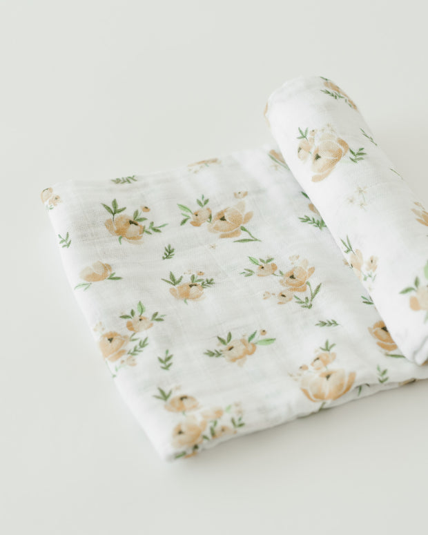 Cotton Swaddle - Yellow Rose