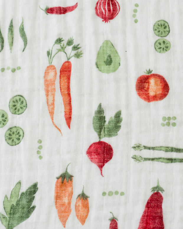 Cotton Muslin Swaddle Blanket - Farmers Market