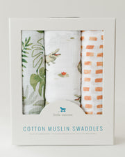 Cotton Muslin Swaddle Blanket Set - Gators