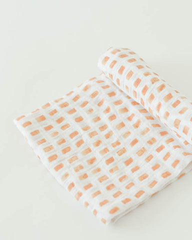 Cotton Swaddle - Tangerine Tiles
