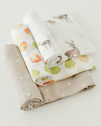 Cotton Muslin Swaddle Blanket Set - Oh Deer!