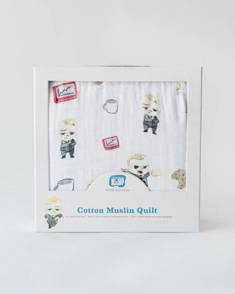LU + The Boss Baby Cotton Quilt - Cookies are for Closers