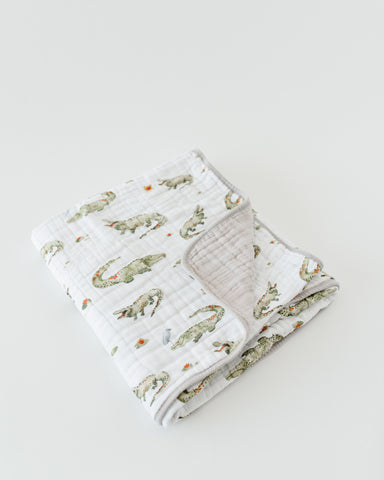 Cotton Muslin Quilt - Gators