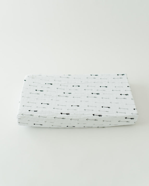 Cotton Changing Pad Cover - Arrow