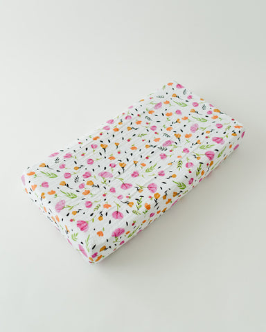 Cotton Changing Pad Cover - Berry & Bloom