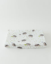 Cotton Changing Pad Cover - Hedgehog