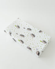 Cotton Muslin Changing Pad Cover - Hedgehog