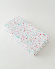 Cotton Muslin Changing Pad Cover - Morning Glory