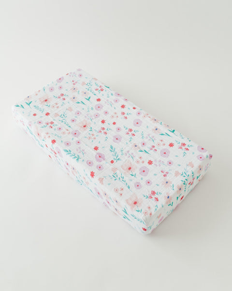 Cotton Changing Pad Cover - Morning Glory