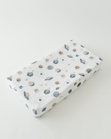 Cotton Changing Pad Cover - Planetary