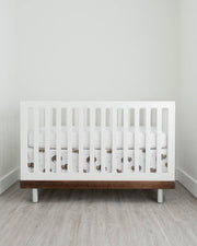 Cotton Muslin Crib Skirt - Bison