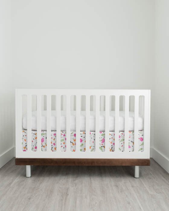 Cotton Muslin Crib Skirt - Berry & Bloom