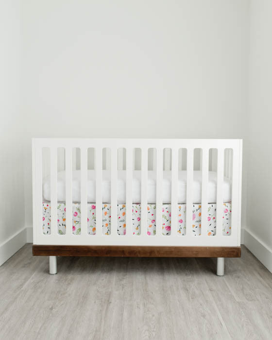 Percale Crib Skirt - Berry & Bloom