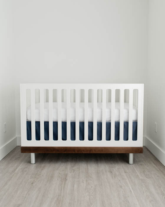 pleat from easily idea designs crib duo adorkable adjustable part skirt carousel diy bedding box blog