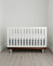 Percale Crib Skirt - Ink Stripe