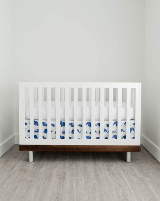 Percale Crib Skirt - Indie Elephant