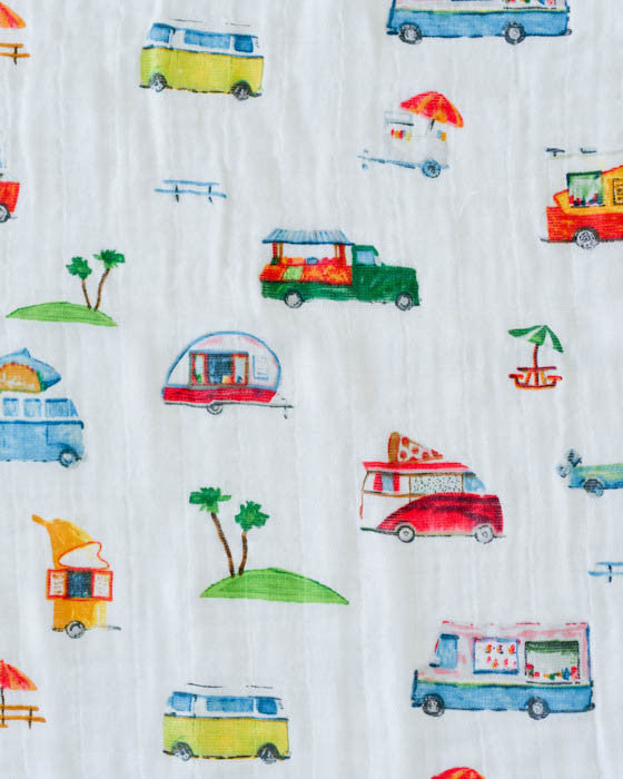 Cotton Muslin Swaddle Single - Food Truck