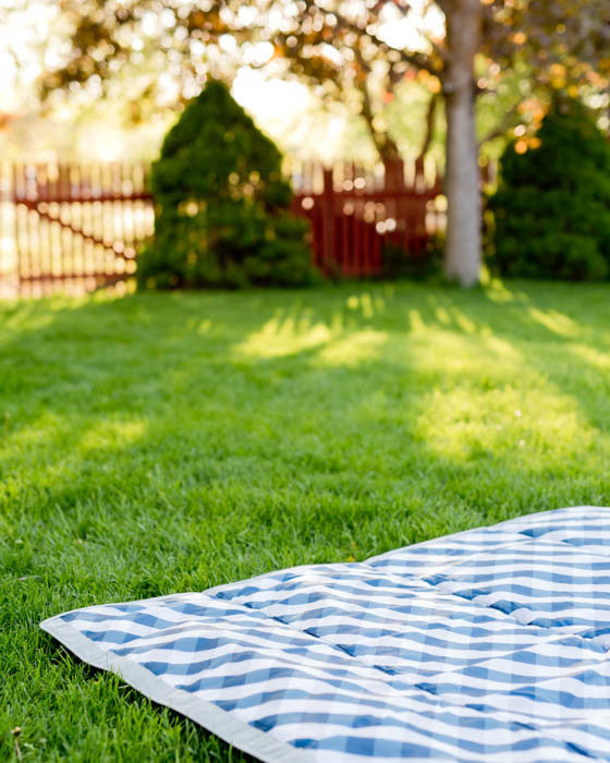 Outdoor Blanket - Navy Gingham