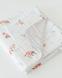 Cotton Muslin Quilt - Fox
