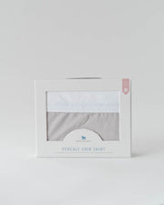 Percale Crib Skirt - Warm Grey