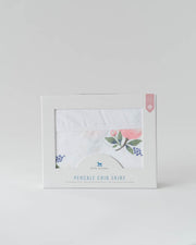 Percale Crib Skirt - Watercolor Rose