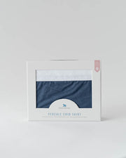 Percale Crib Skirt - Indigo Wash
