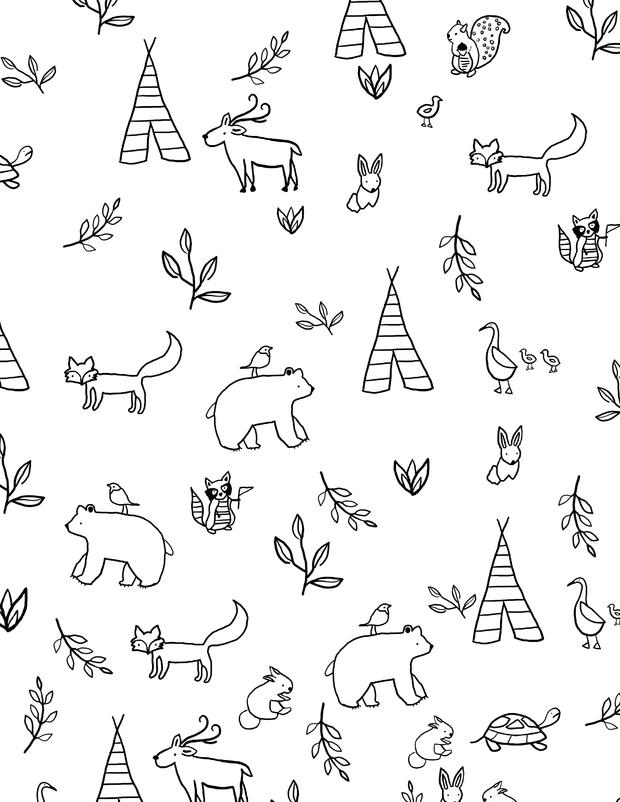Downloadable Coloring Pages - Forest Friends