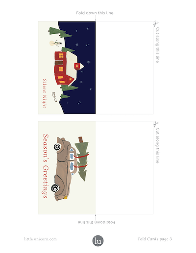 holiday gift tags 2018 foldable 1