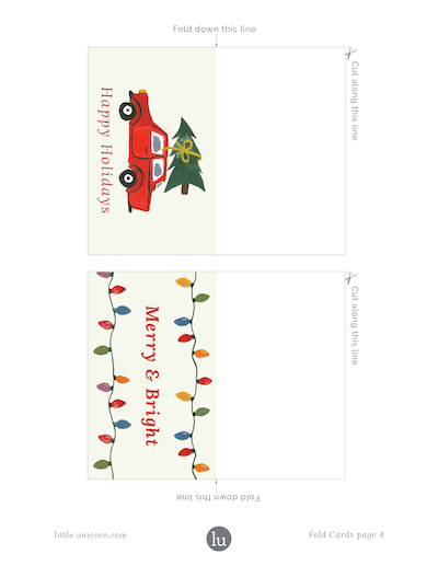 holiday gift tags 2018 foldable 2