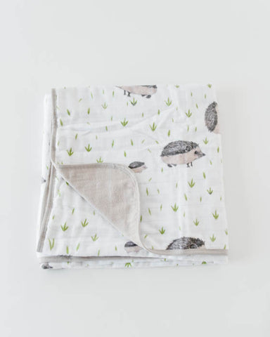 Brushed Muslin Quilt - Hedgehog
