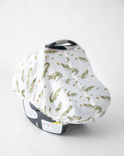 Cotton Muslin Car Seat Canopy - Gators