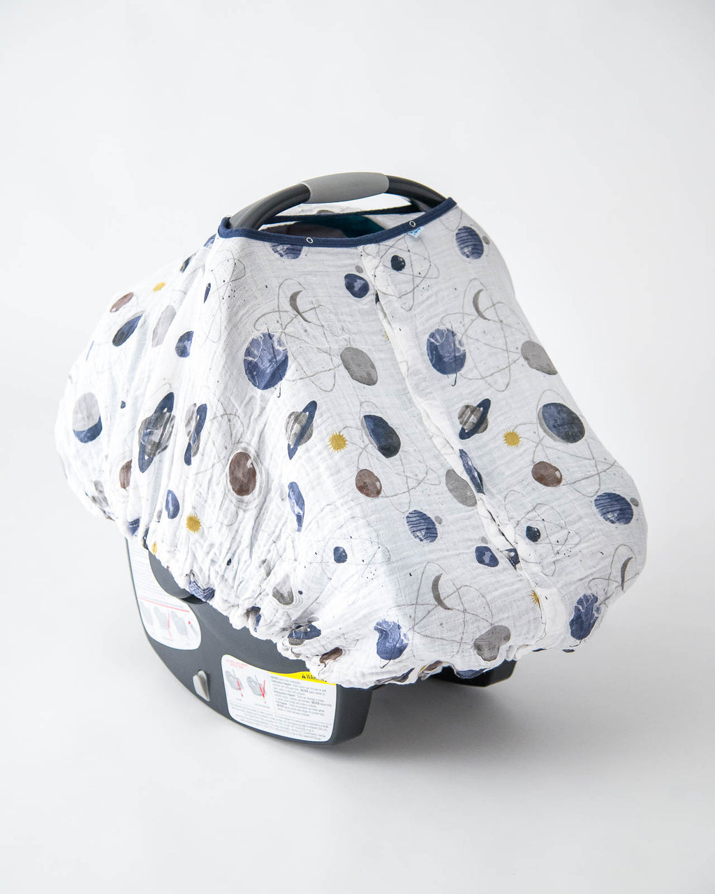 & Little Unicorn Cotton Muslin Car Seat Canopy - Planetary