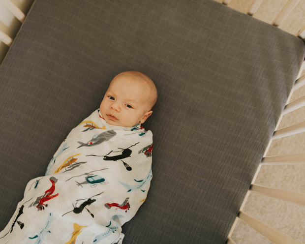 Deluxe Muslin Swaddle Blanket - Air Show