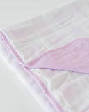 Brushed Muslin Quilt - Lilac Plaid