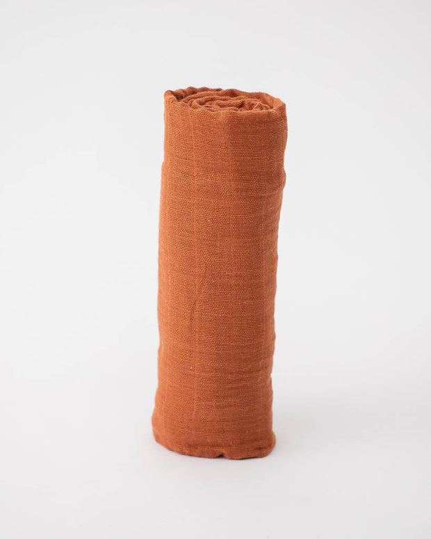 Cotton Swaddle - Rust