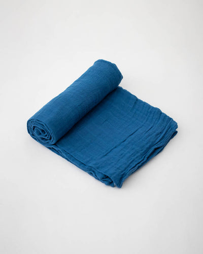 Cotton Muslin Swaddle Blanket - Lake