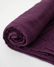 Cotton Muslin Swaddle Blanket - Plum