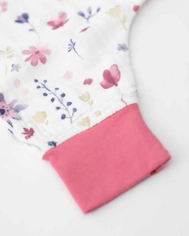 Cotton Muslin Romper  - Fairy Garden