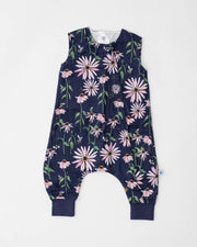 Cotton Muslin Romper  - Dark Coneflower