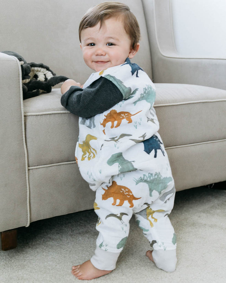 Cotton Muslin Romper  - Dino Friends