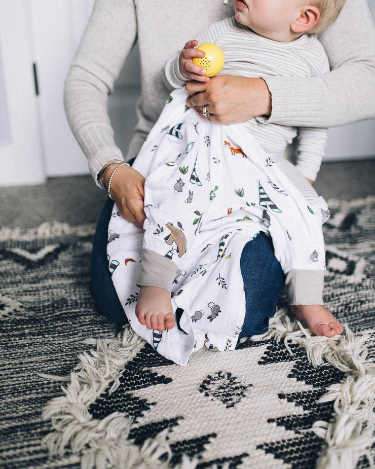 Cotton Muslin Romper - Forest Friends