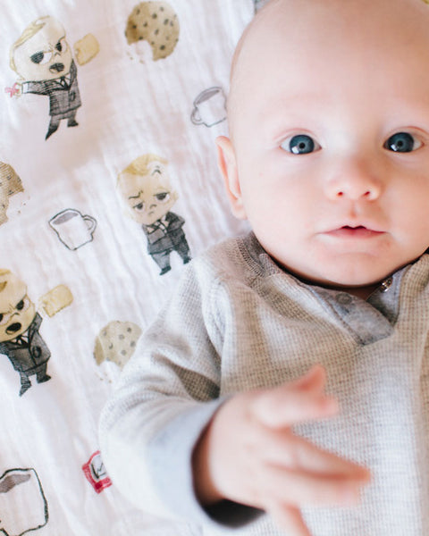 LU + The Boss Baby Cotton Swaddle - Cookies are for Closers