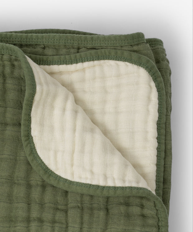 Cotton Muslin Baby Quilt - Fern