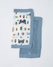 Deluxe Muslin Security Blanket 2 Pack - Bugs + Spruce
